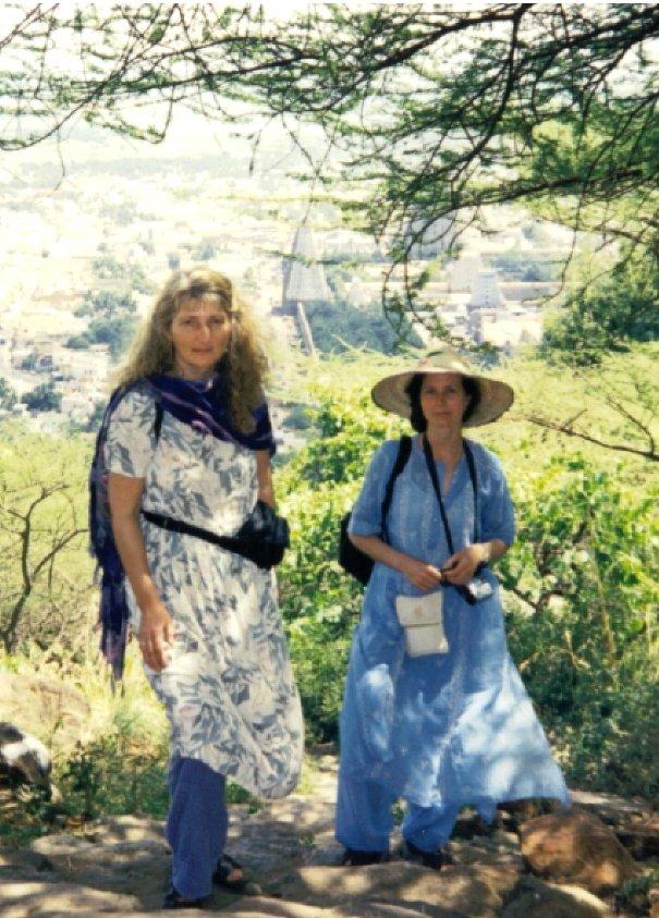 India Feb 2002 with a friend on Arunachala mountain