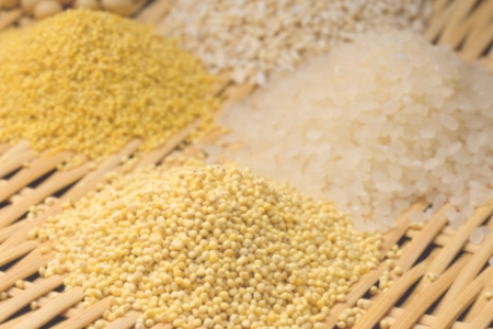 Rice and millet whole grains are inexpensive and healthy.